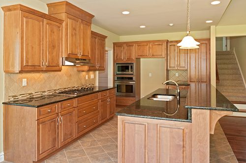 Kitchen-in-Model E-at-Sasser at The Waterfront at Parkside-in-Suffolk