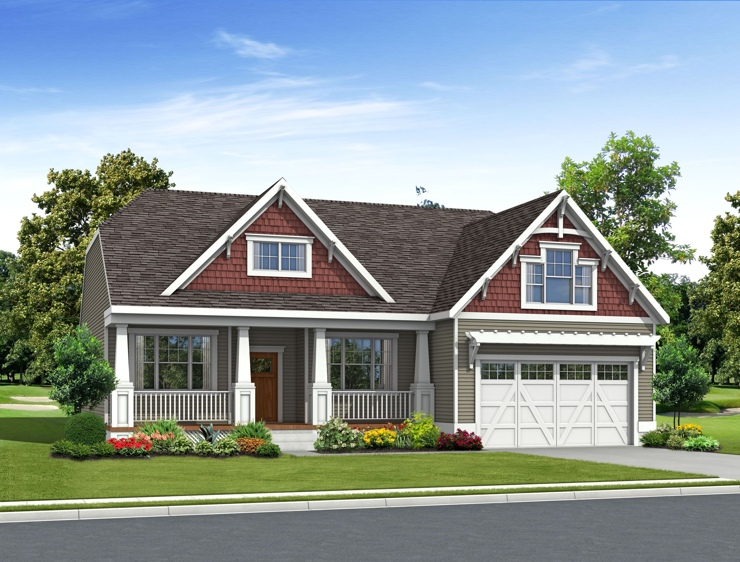 Exterior featured in the Amelia By Schell Brothers in Sussex, DE
