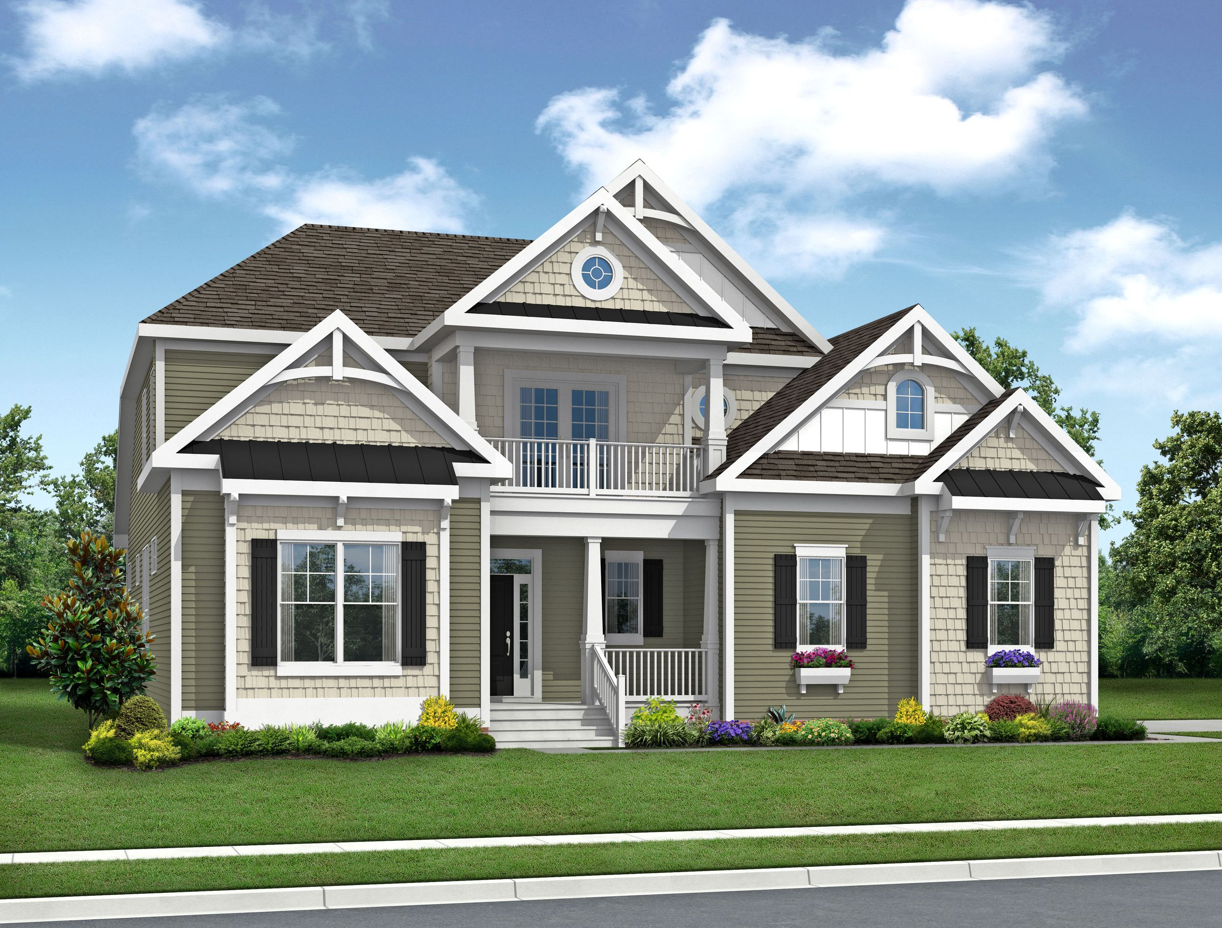 Exterior featured in The Cassidy By Schell Brothers in Richmond-Petersburg, VA
