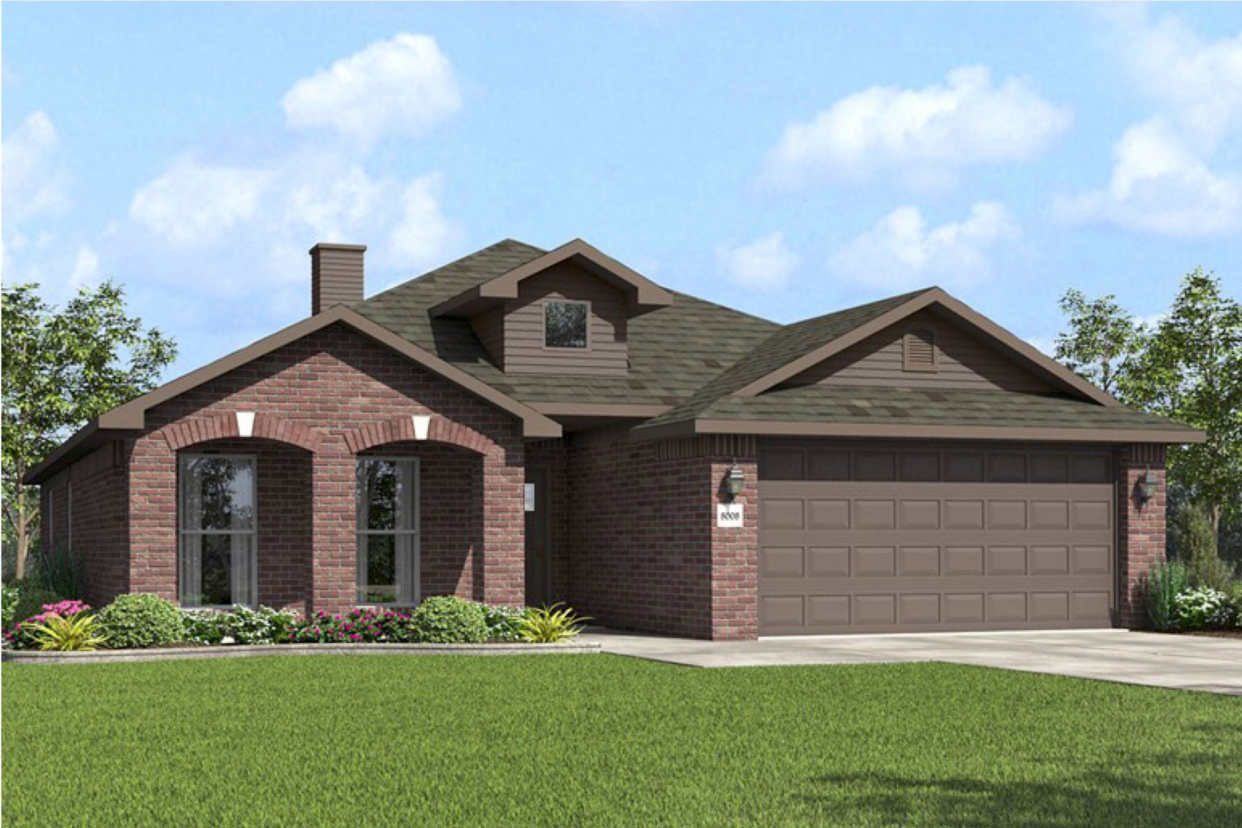 Exterior featured in the 1650KI Series By Schuber Mitchell Homes in Joplin, MO