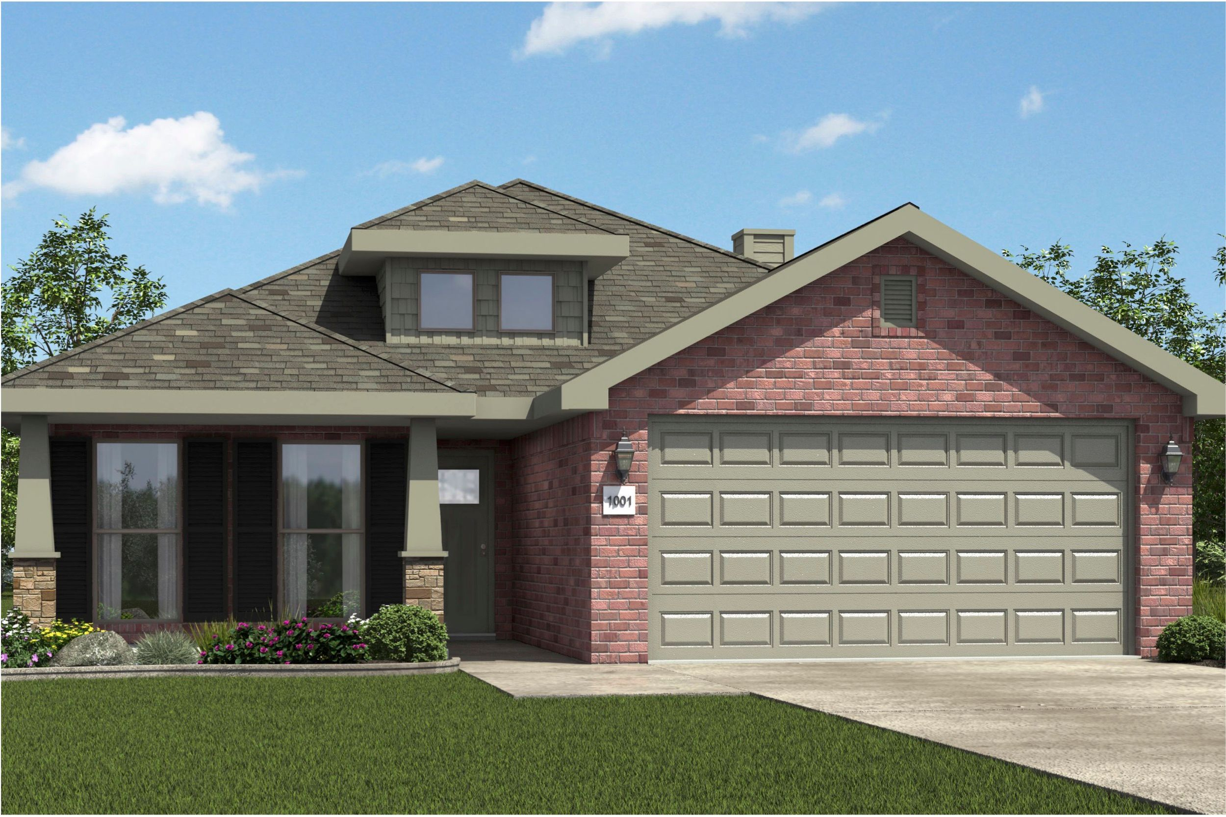 Exterior featured in the 1750KP Series By Schuber Mitchell Homes in Fayetteville, AR