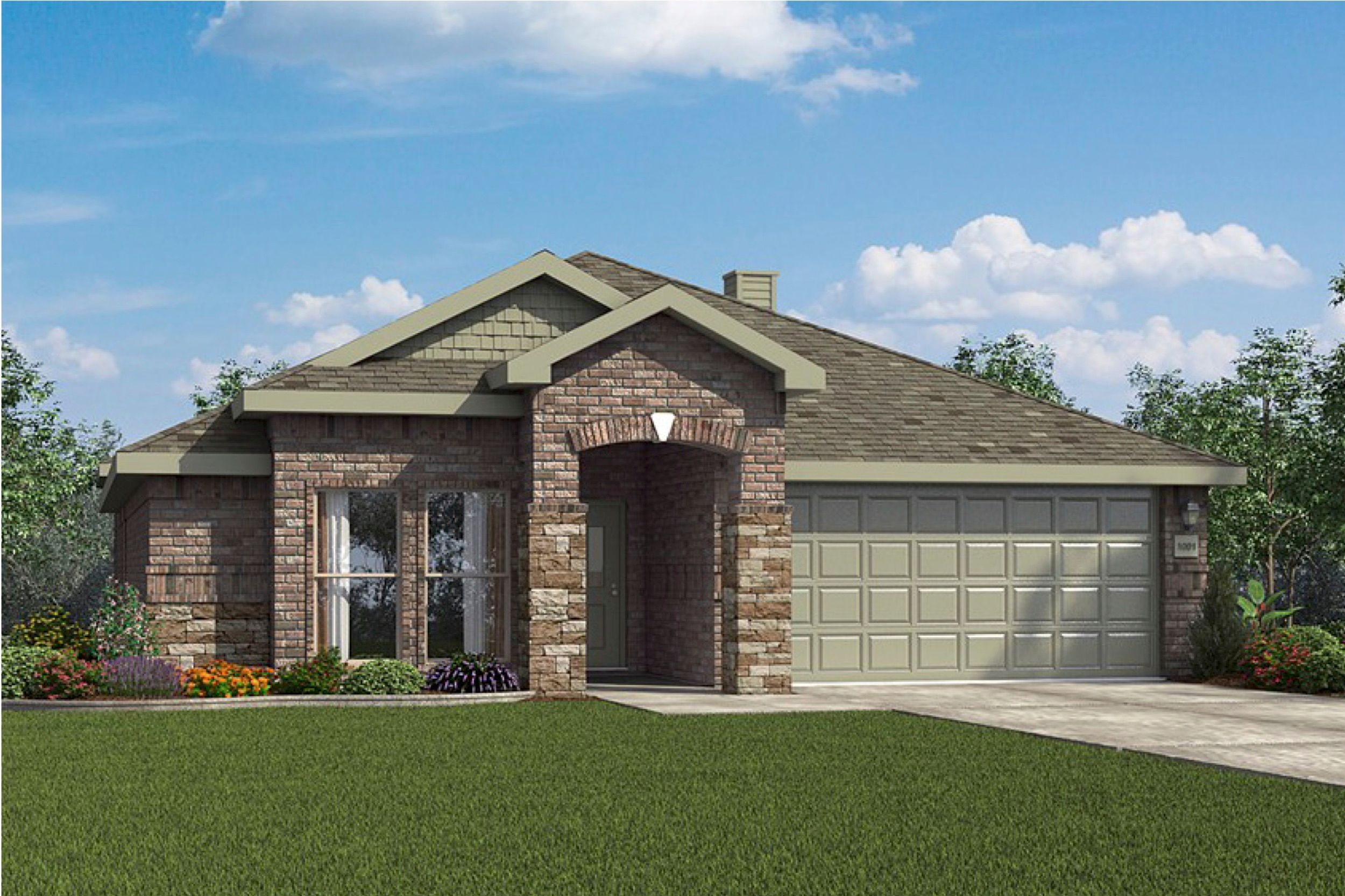 Exterior featured in the 2050KP Series By Schuber Mitchell Homes in Fayetteville, AR