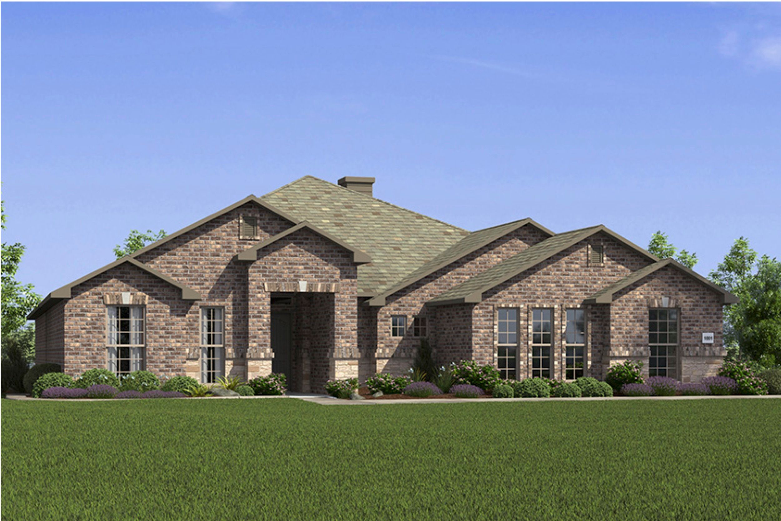 Exterior featured in the 2500 Series By Schuber Mitchell Homes in Joplin, MO