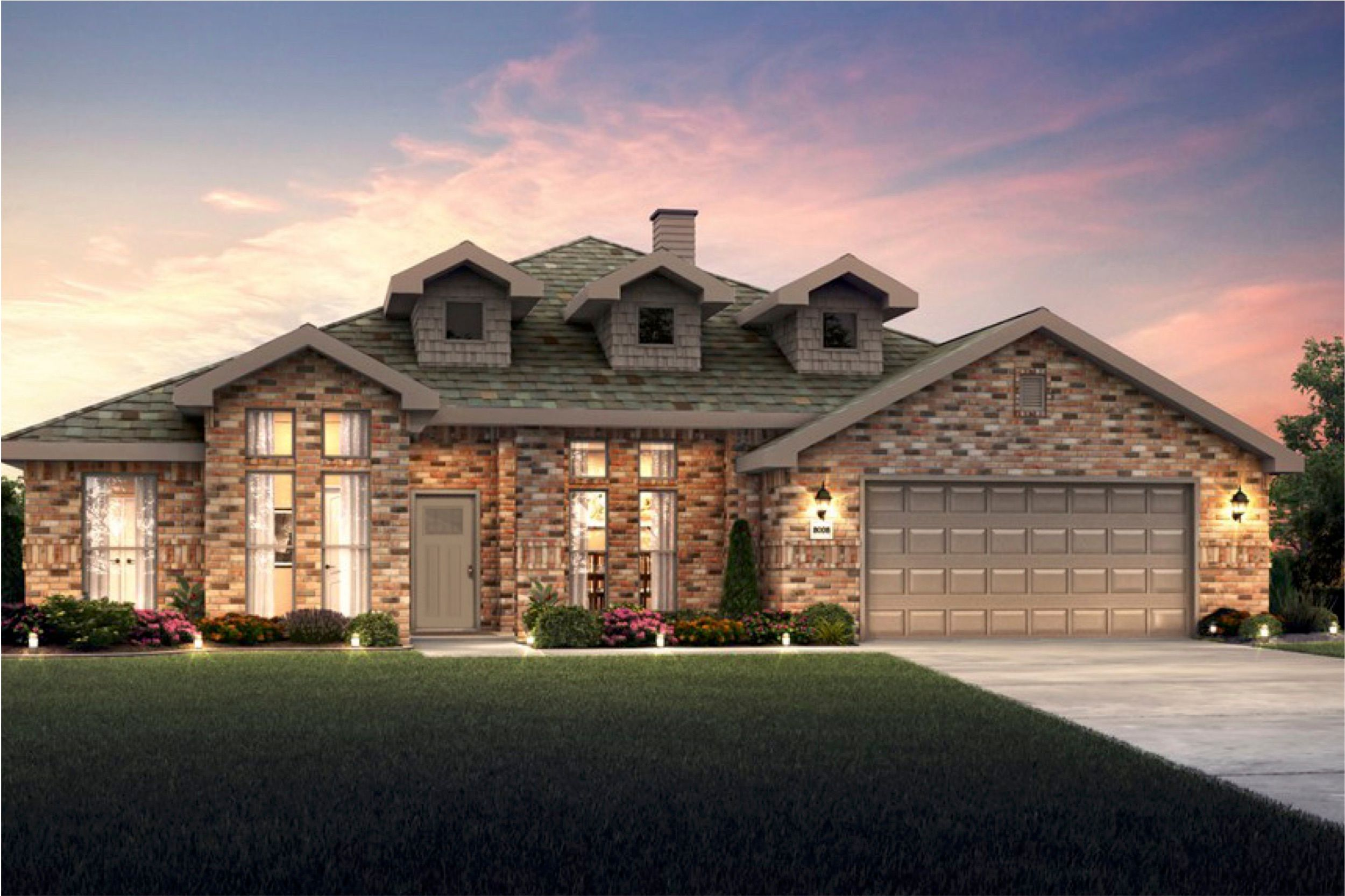 Exterior featured in the 2600T Series By Schuber Mitchell Homes in Fayetteville, AR
