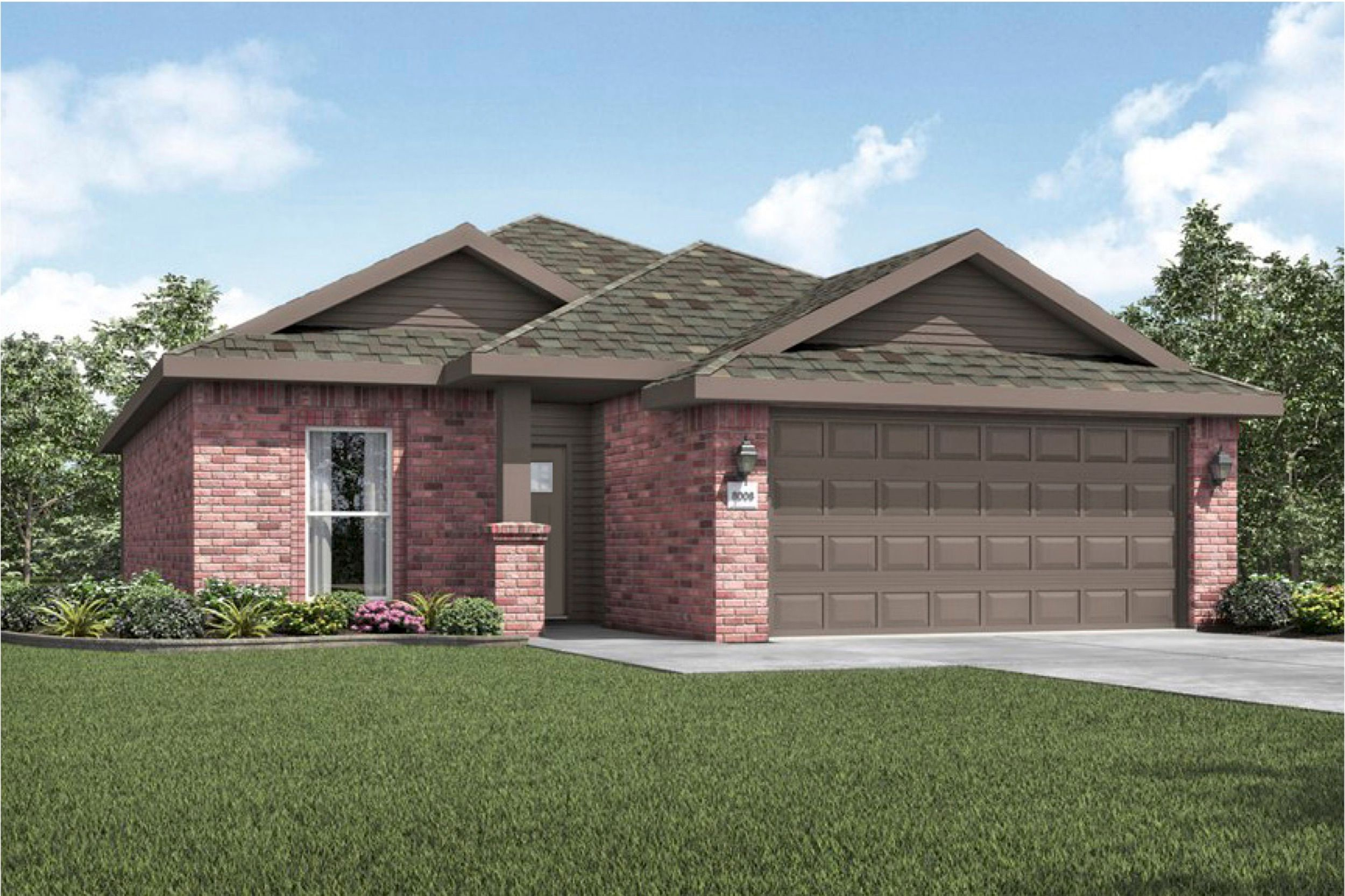 Exterior featured in the 1550KB Series By Schuber Mitchell Homes in Fayetteville, AR