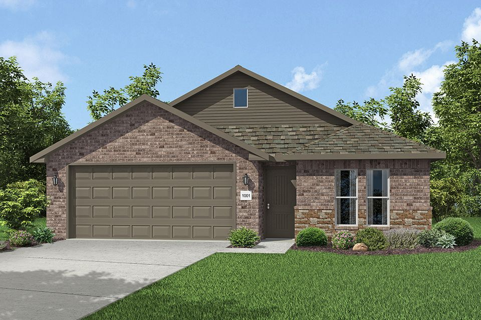 Exterior featured in the 1400-4 Series By Schuber Mitchell Homes in Fayetteville, AR