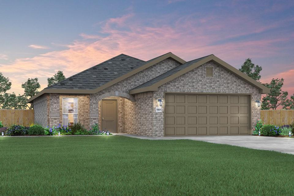 Exterior featured in the 1450KB Series By Schuber Mitchell Homes in Fayetteville, AR