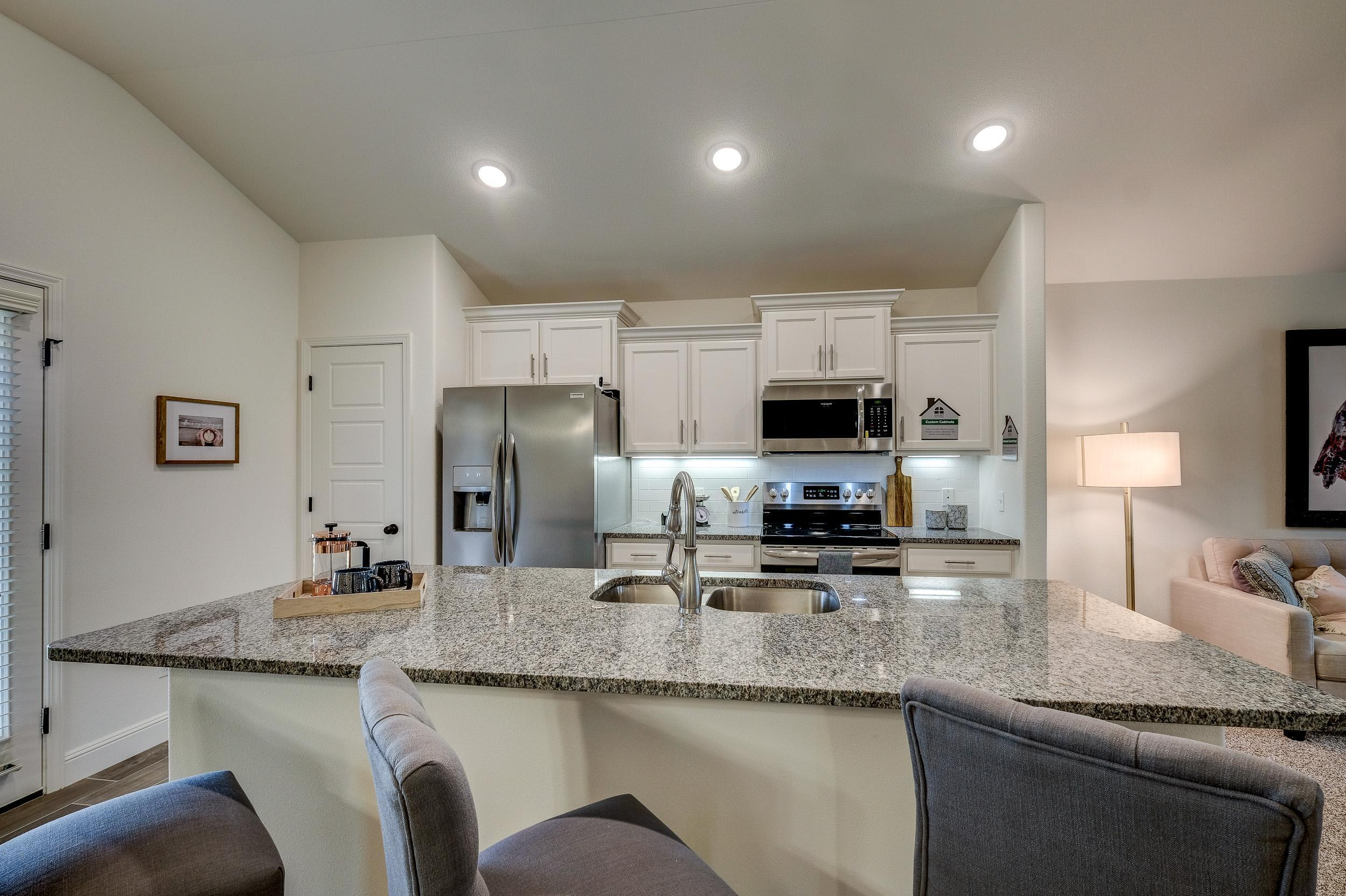 Kitchen featured in the 1450KB Series By Schuber Mitchell Homes in Fayetteville, AR