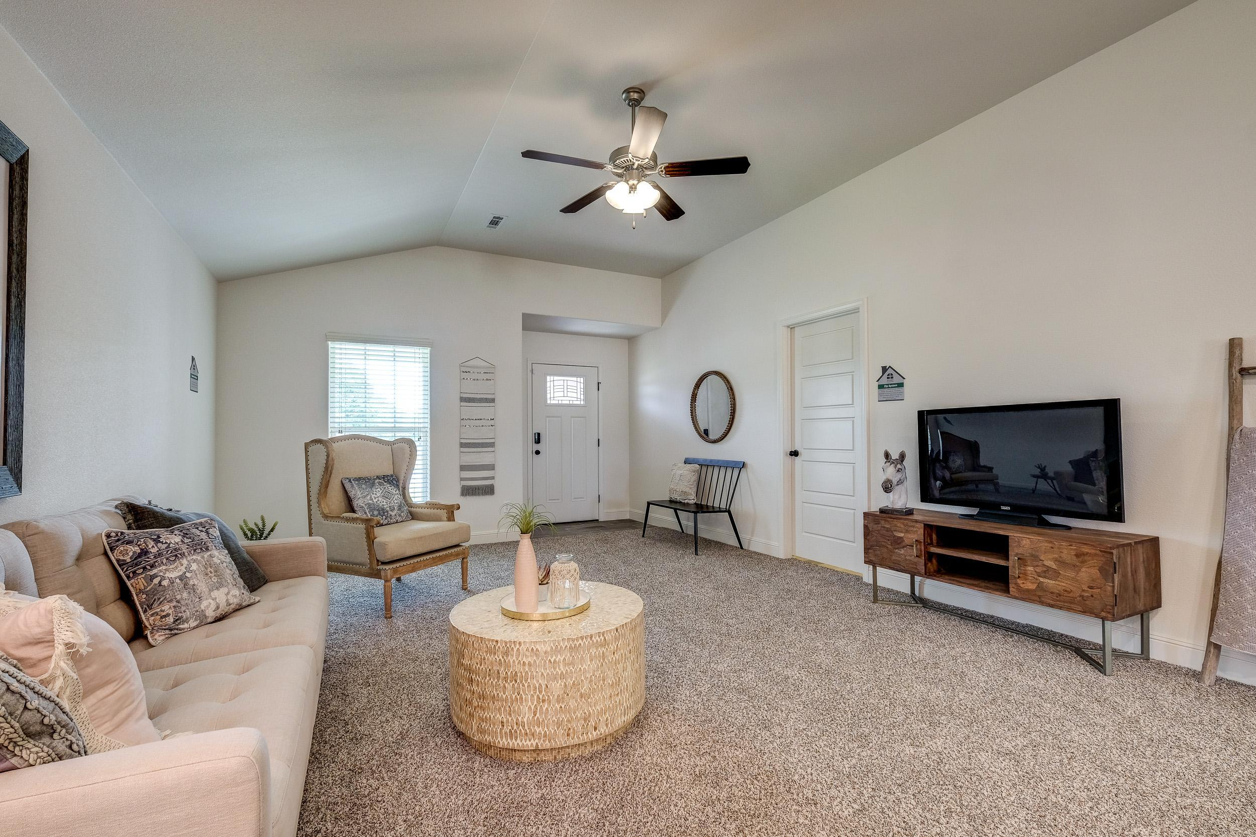 Living Area featured in the 1450KB Series By Schuber Mitchell Homes in Fayetteville, AR