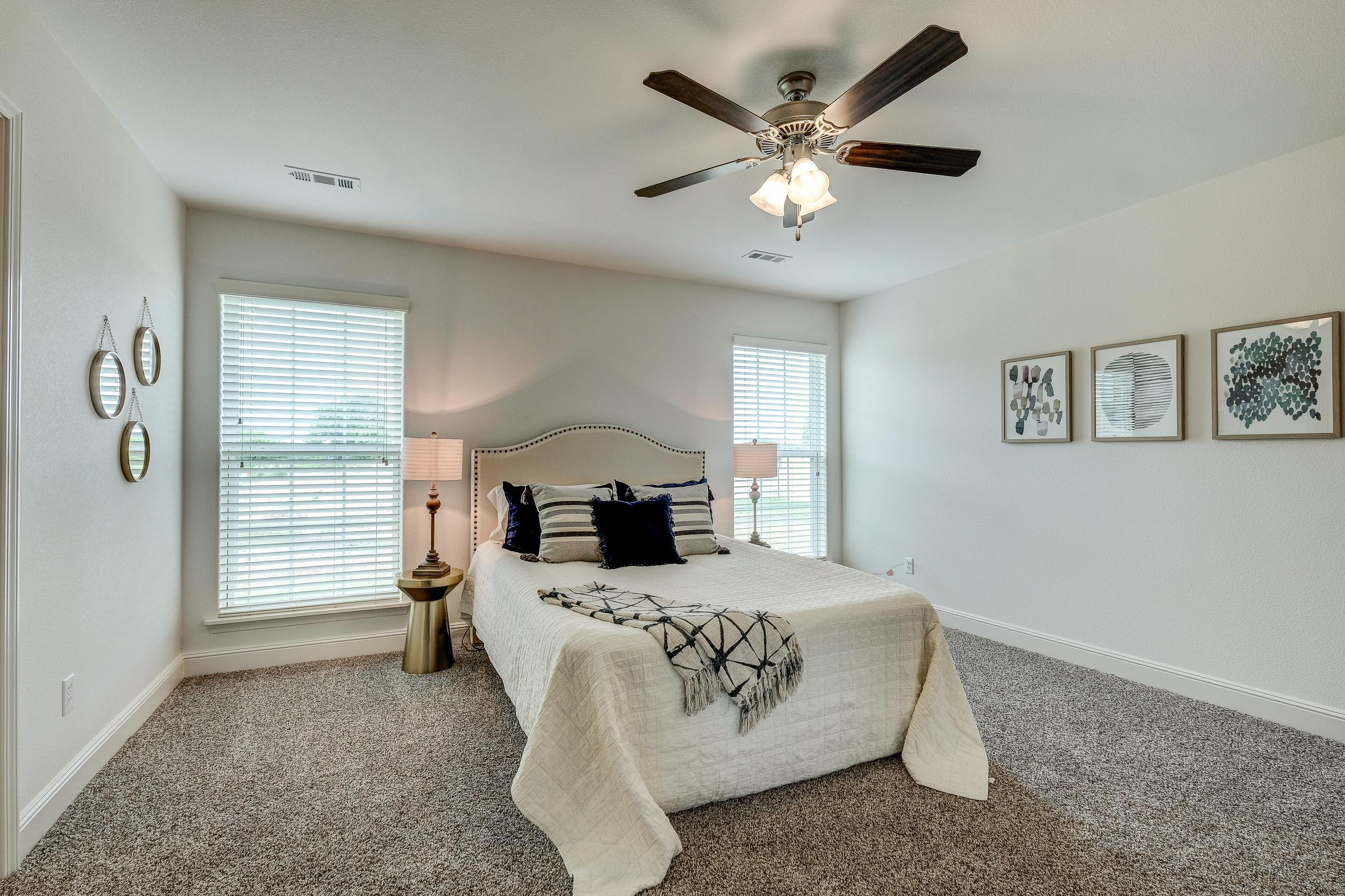 Bedroom featured in the 1450KB Series By Schuber Mitchell Homes in Fayetteville, AR