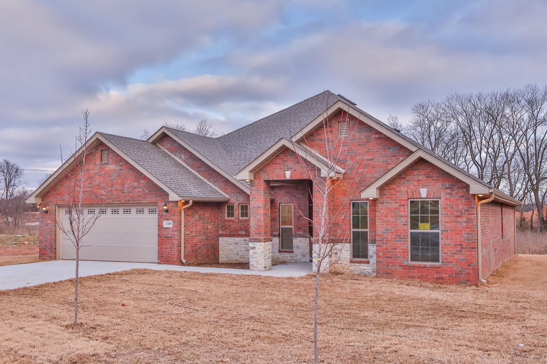 Exterior featured in the 2500 Series By Schuber Mitchell Homes in Fayetteville, AR