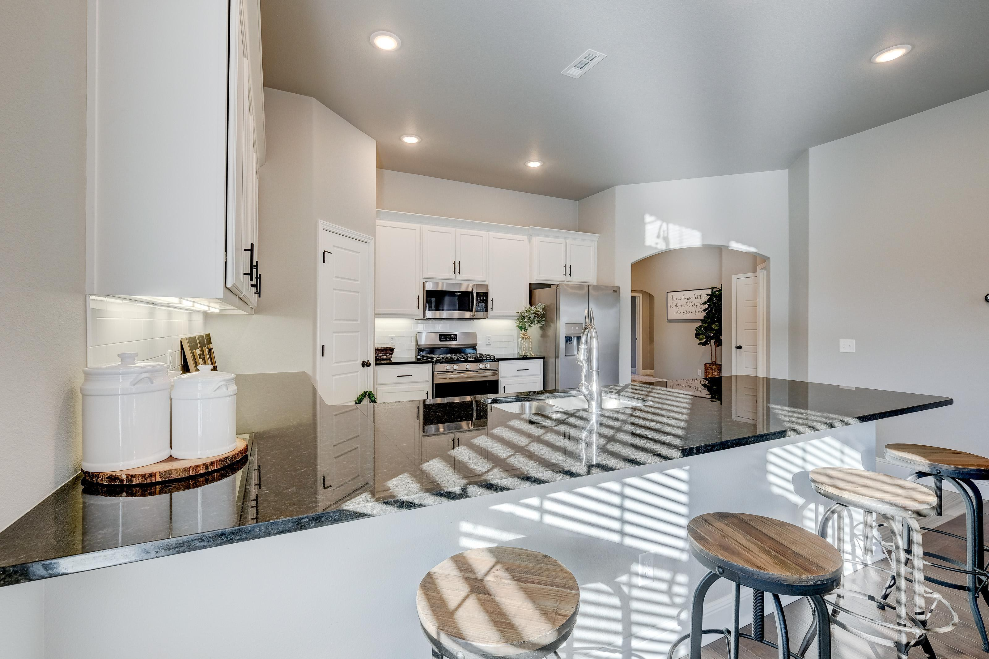 Kitchen featured in the 2050KP Series By Schuber Mitchell Homes in Joplin, MO
