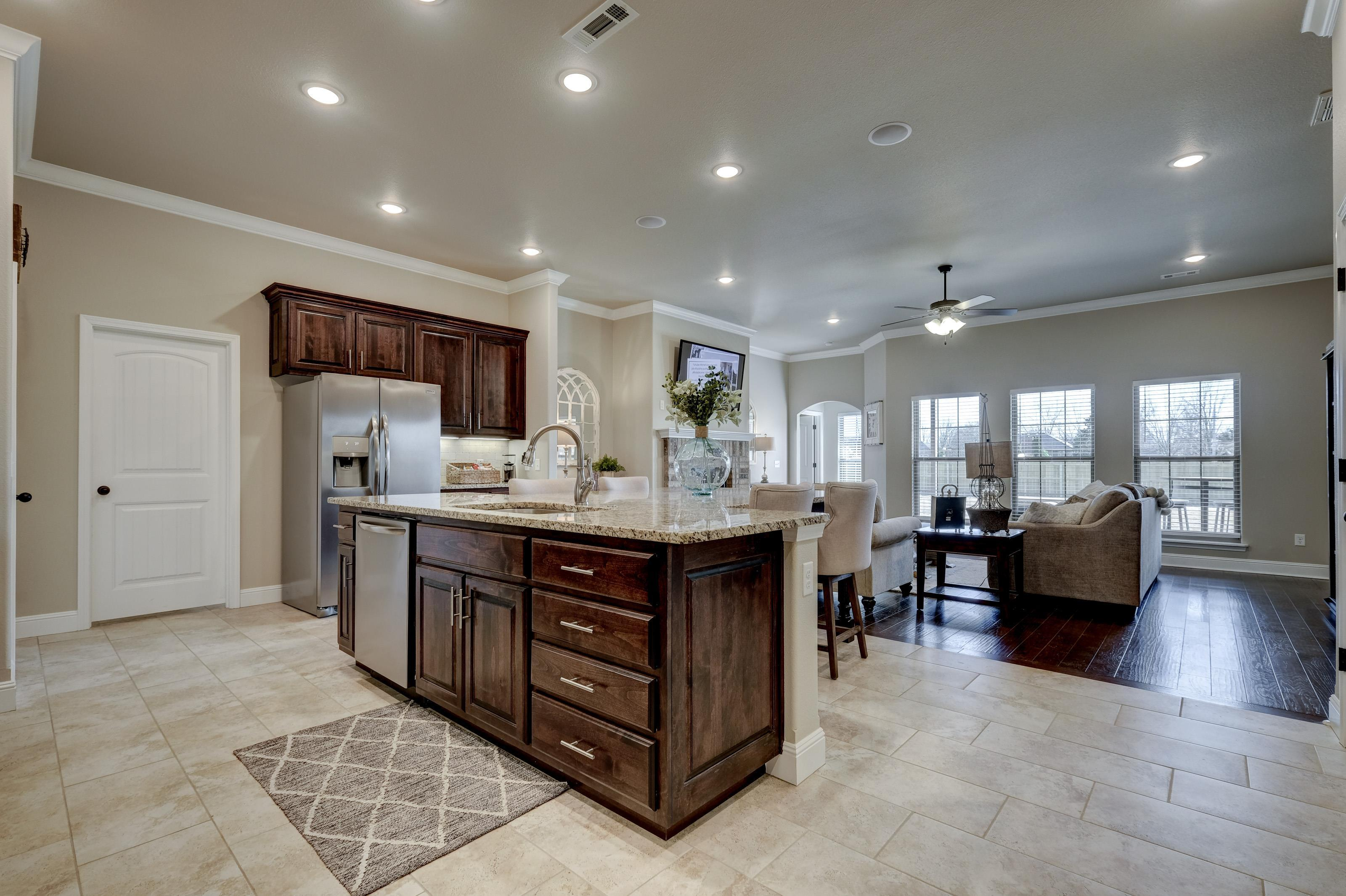 Kitchen featured in the 2600T Series By Schuber Mitchell Homes in Joplin, MO