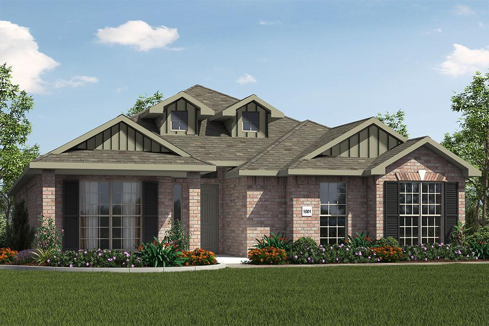 Exterior featured in the 2000KI Series By Schuber Mitchell Homes in Fayetteville, AR