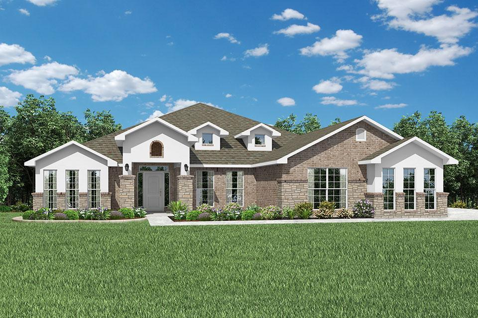 Exterior featured in the 3000 Series By Schuber Mitchell Homes in Joplin, MO