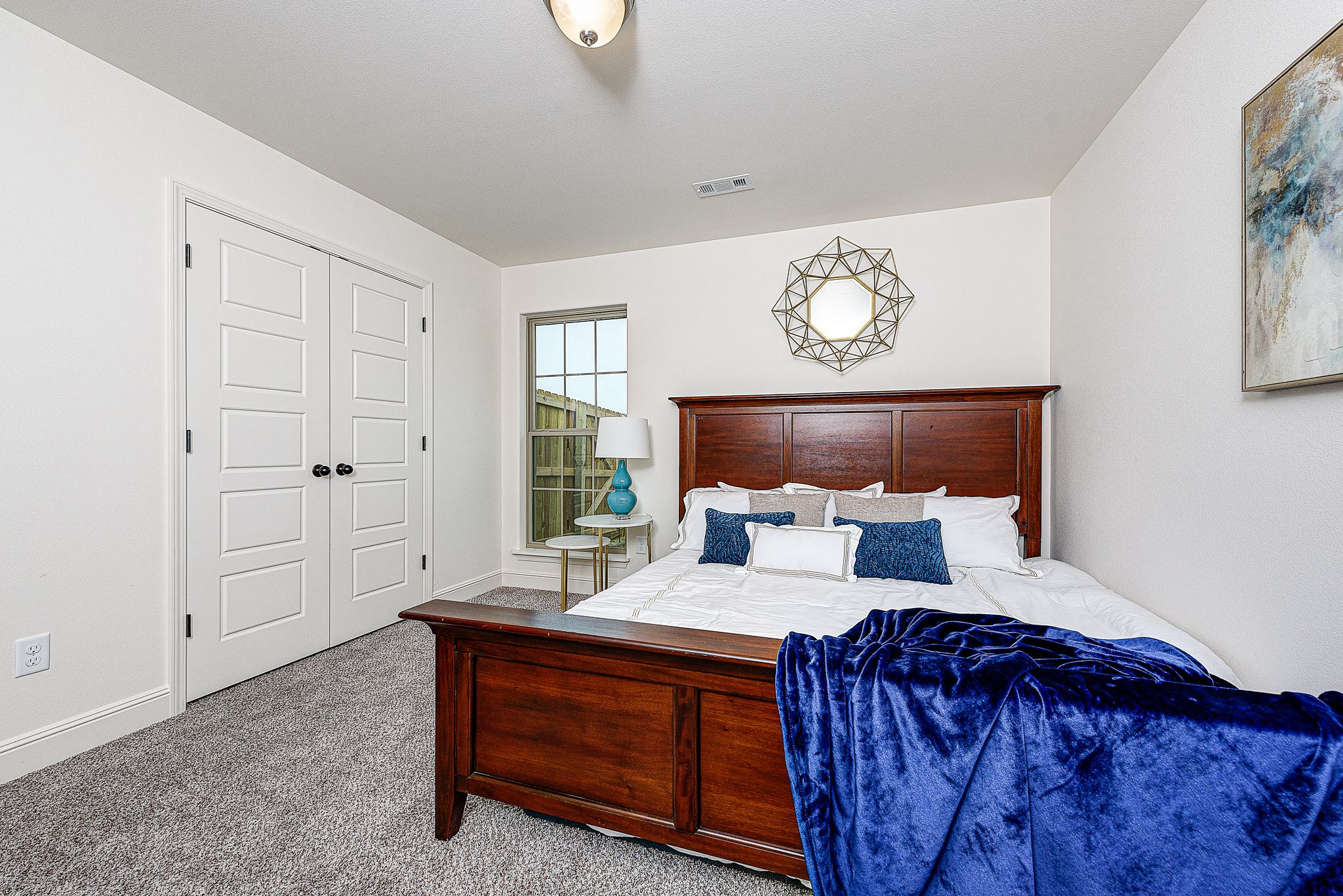 Bedroom featured in the 1650KI Series By Schuber Mitchell Homes in Fayetteville, AR