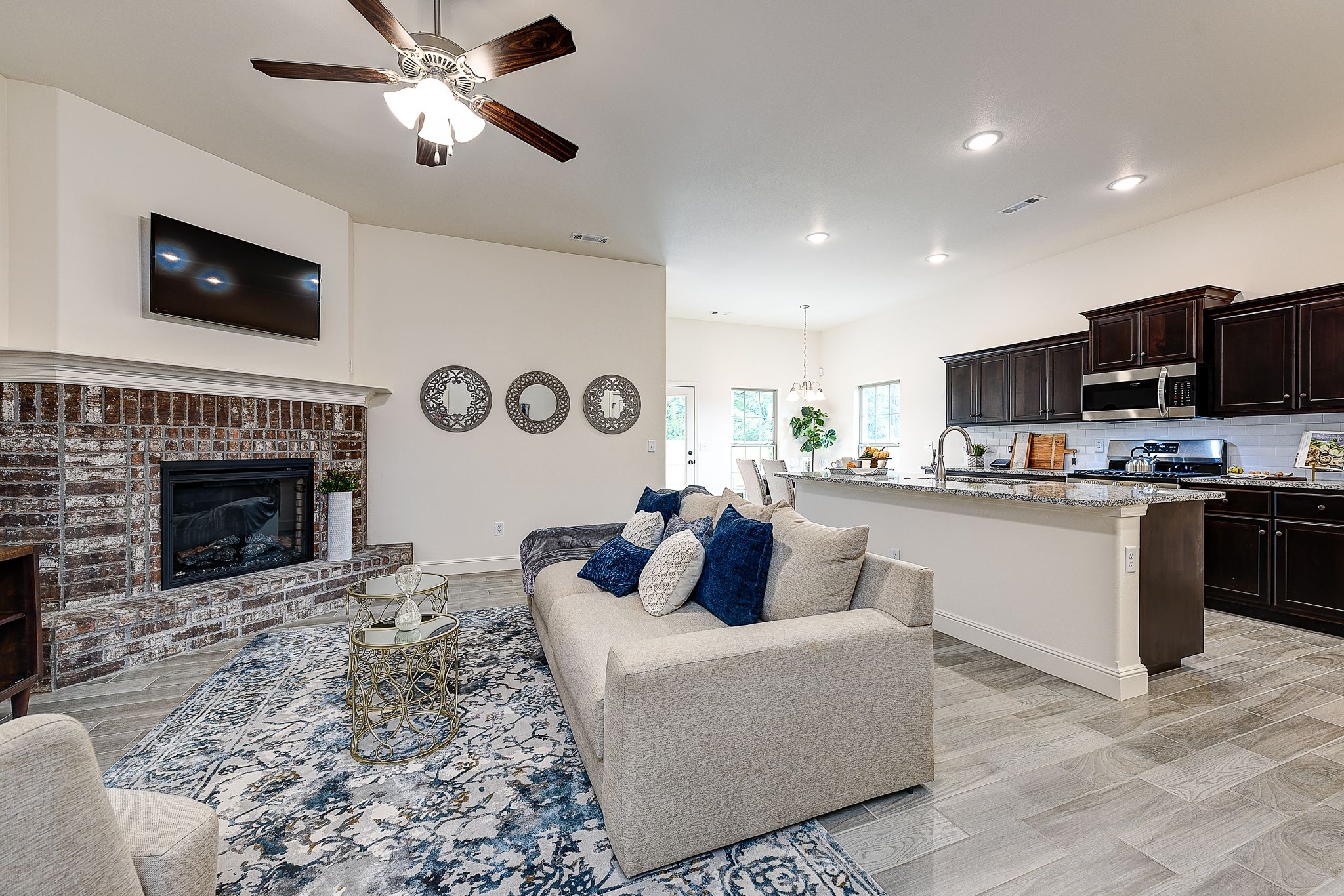 Living Area featured in the 1650KI Series By Schuber Mitchell Homes in Fayetteville, AR