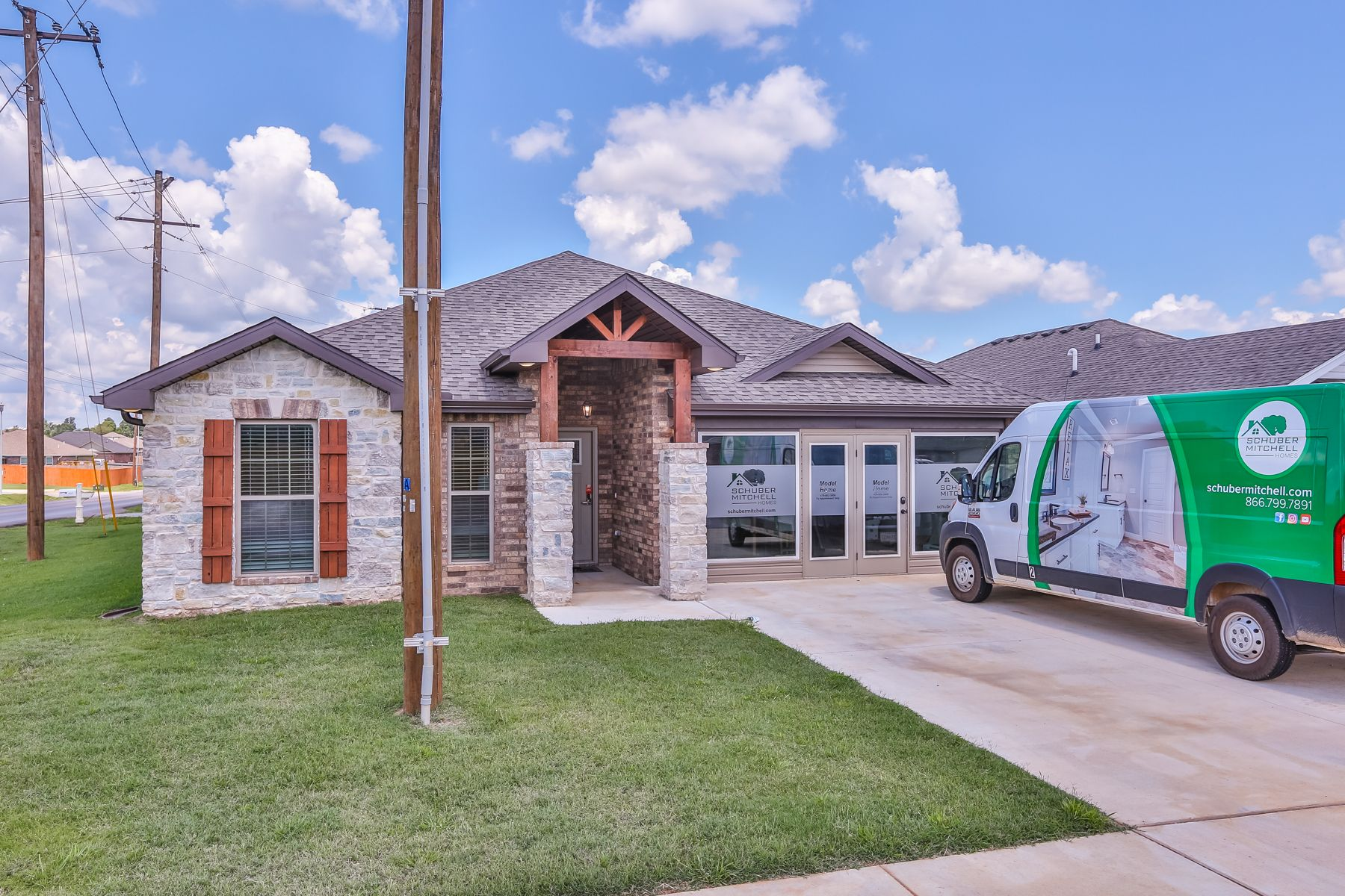 Exterior featured in the 1700KI Series By Schuber Mitchell Homes in Fayetteville, AR