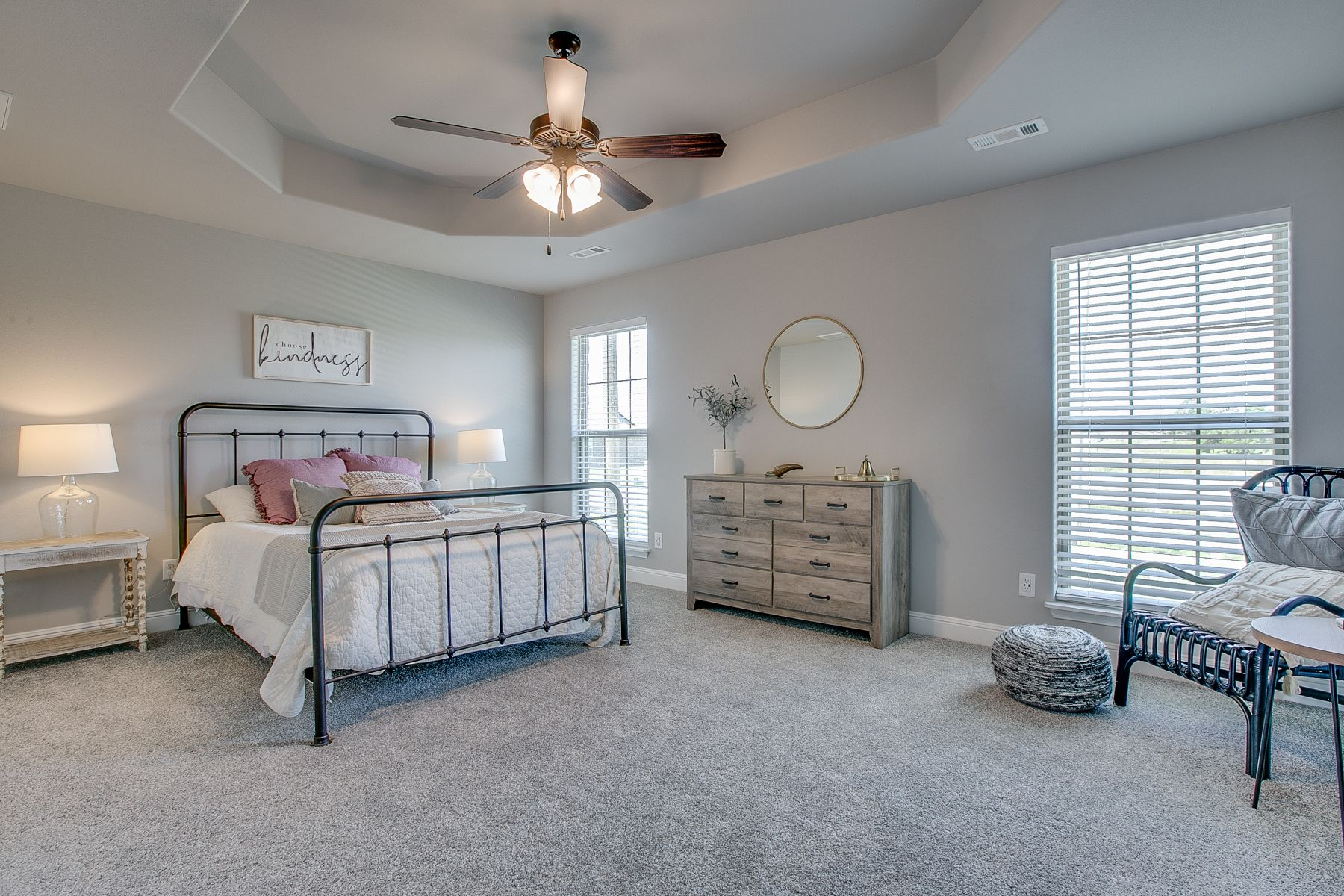 Bedroom featured in the 1700KI Series By Schuber Mitchell Homes in Fayetteville, AR