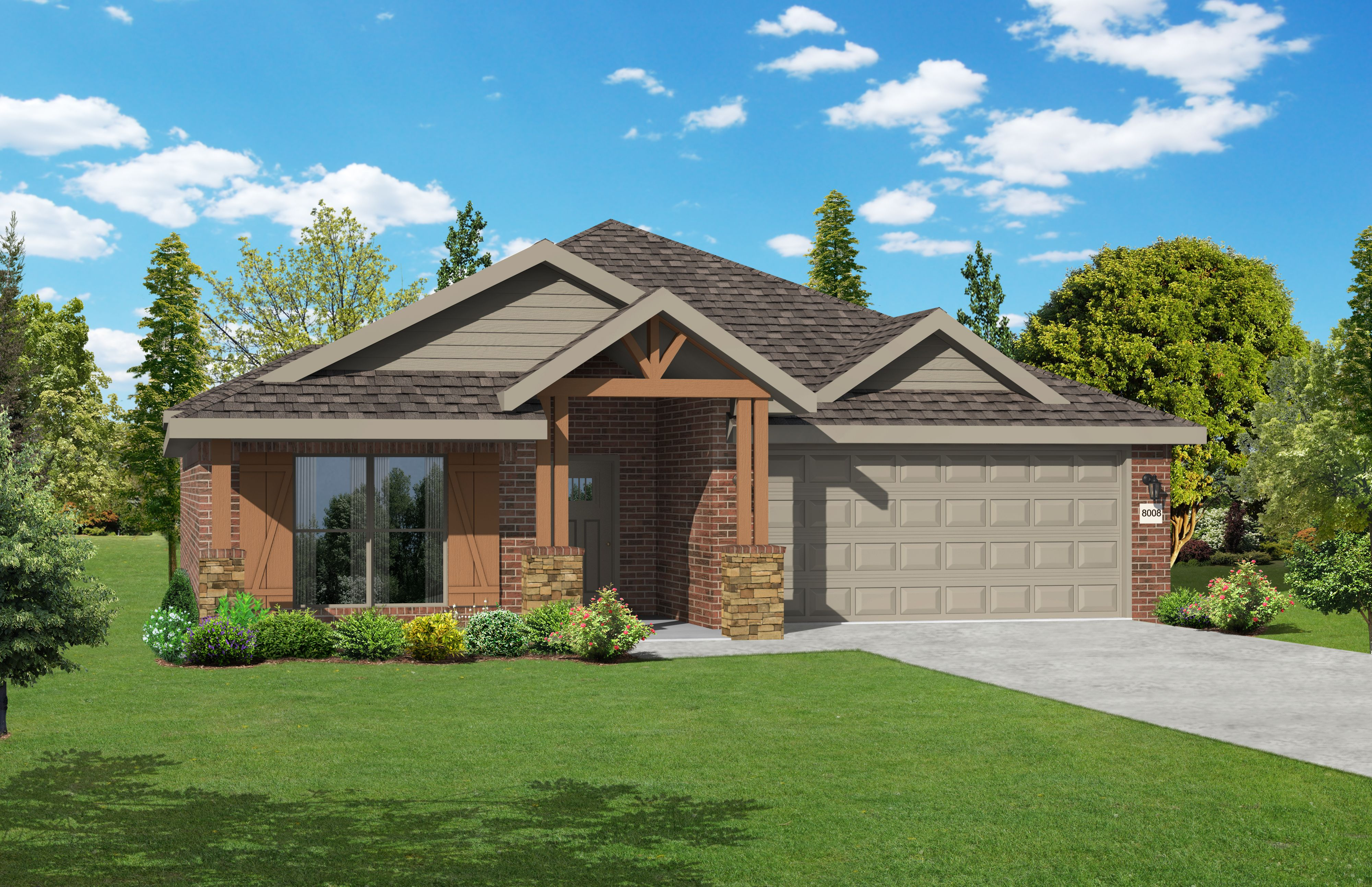 Exterior featured in the 2050KP Series By Schuber Mitchell Homes in Joplin, MO