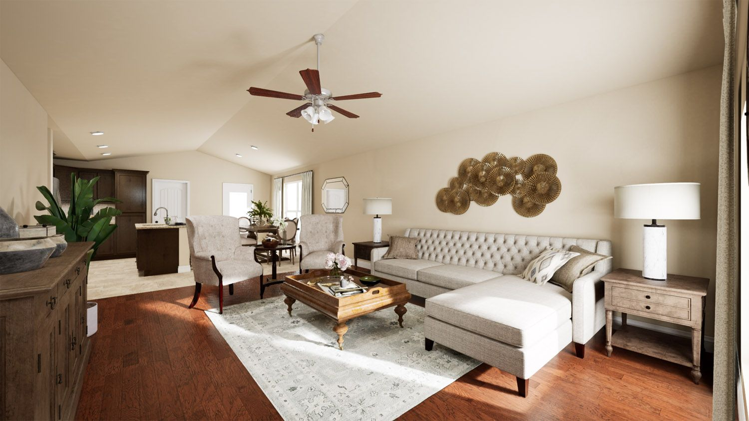 Living Area featured in the 1400KC Series By Schuber Mitchell Homes in Fayetteville, AR