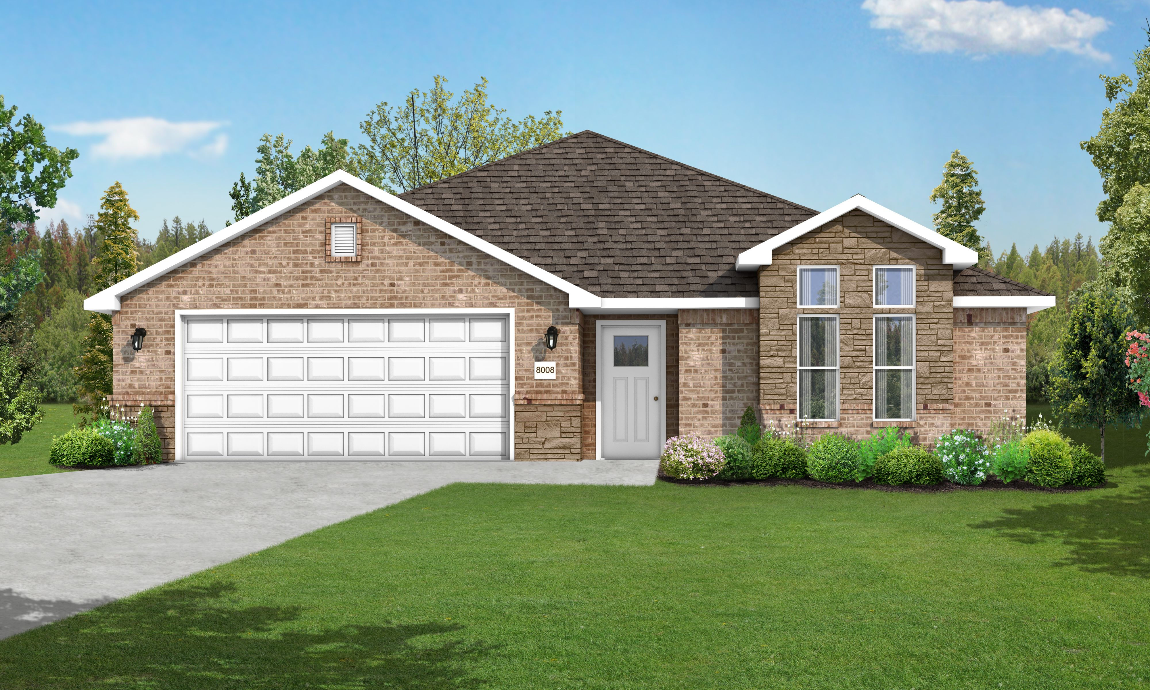 Exterior featured in the 1700FS Series By Schuber Mitchell Homes in Joplin, MO