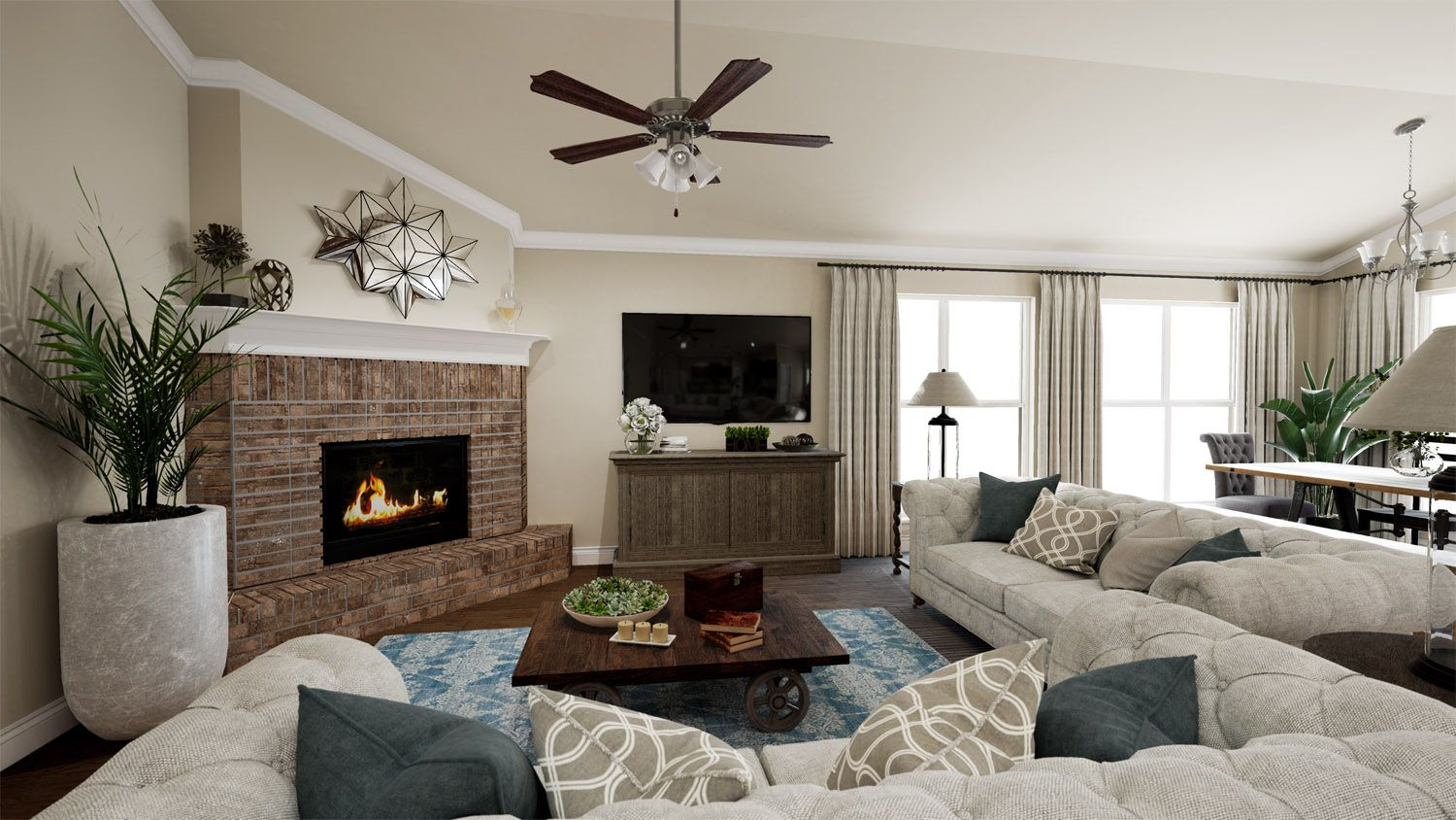 Living Area featured in the 2000KI Series By Schuber Mitchell Homes in Joplin, MO