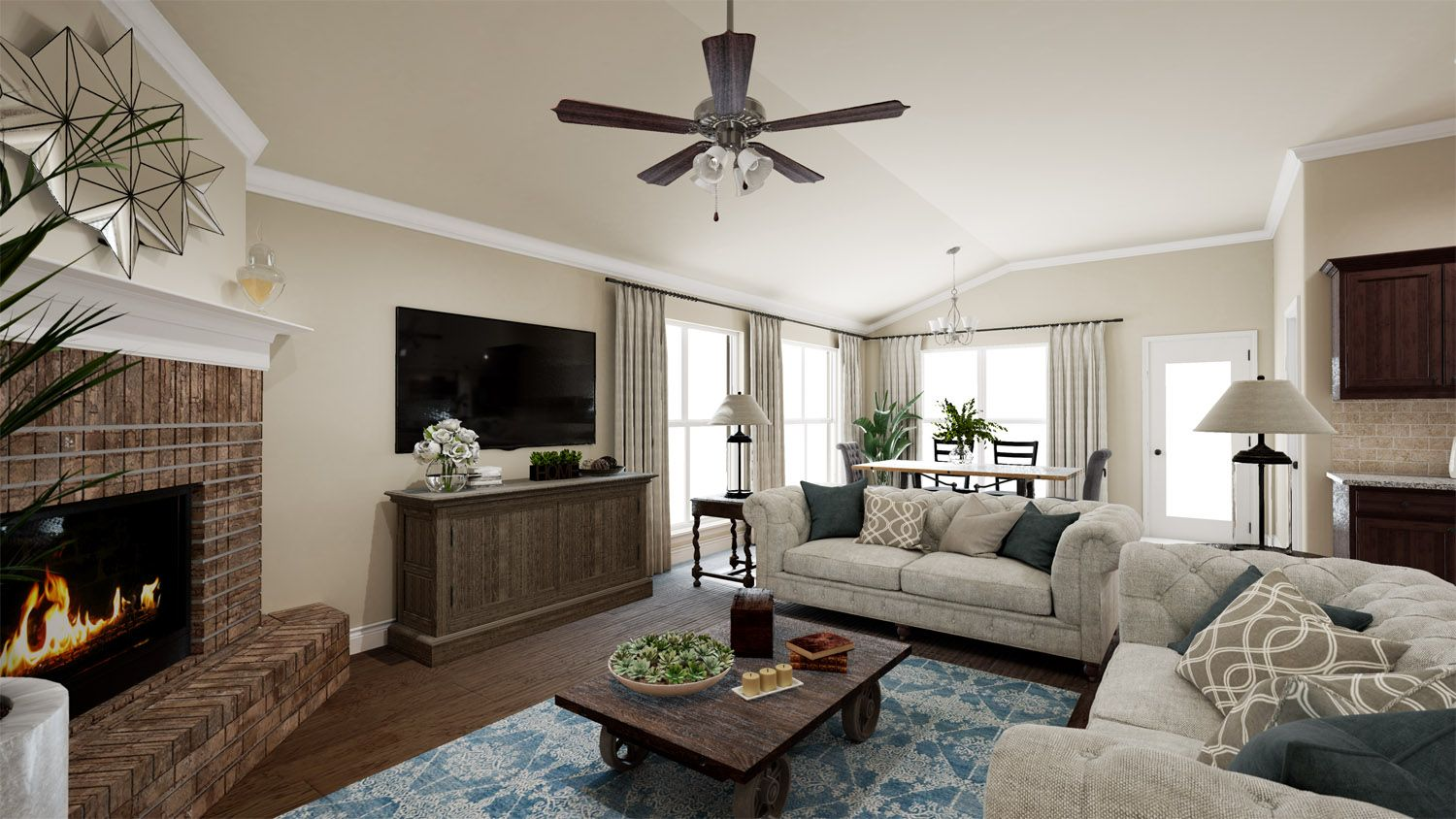 Living Area featured in the 2000KI Series By Schuber Mitchell Homes in Fayetteville, AR