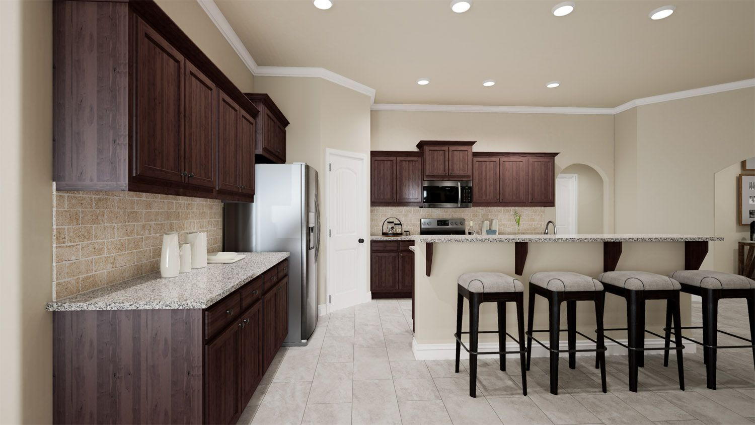 Kitchen featured in the 2000KI Series By Schuber Mitchell Homes in Fayetteville, AR