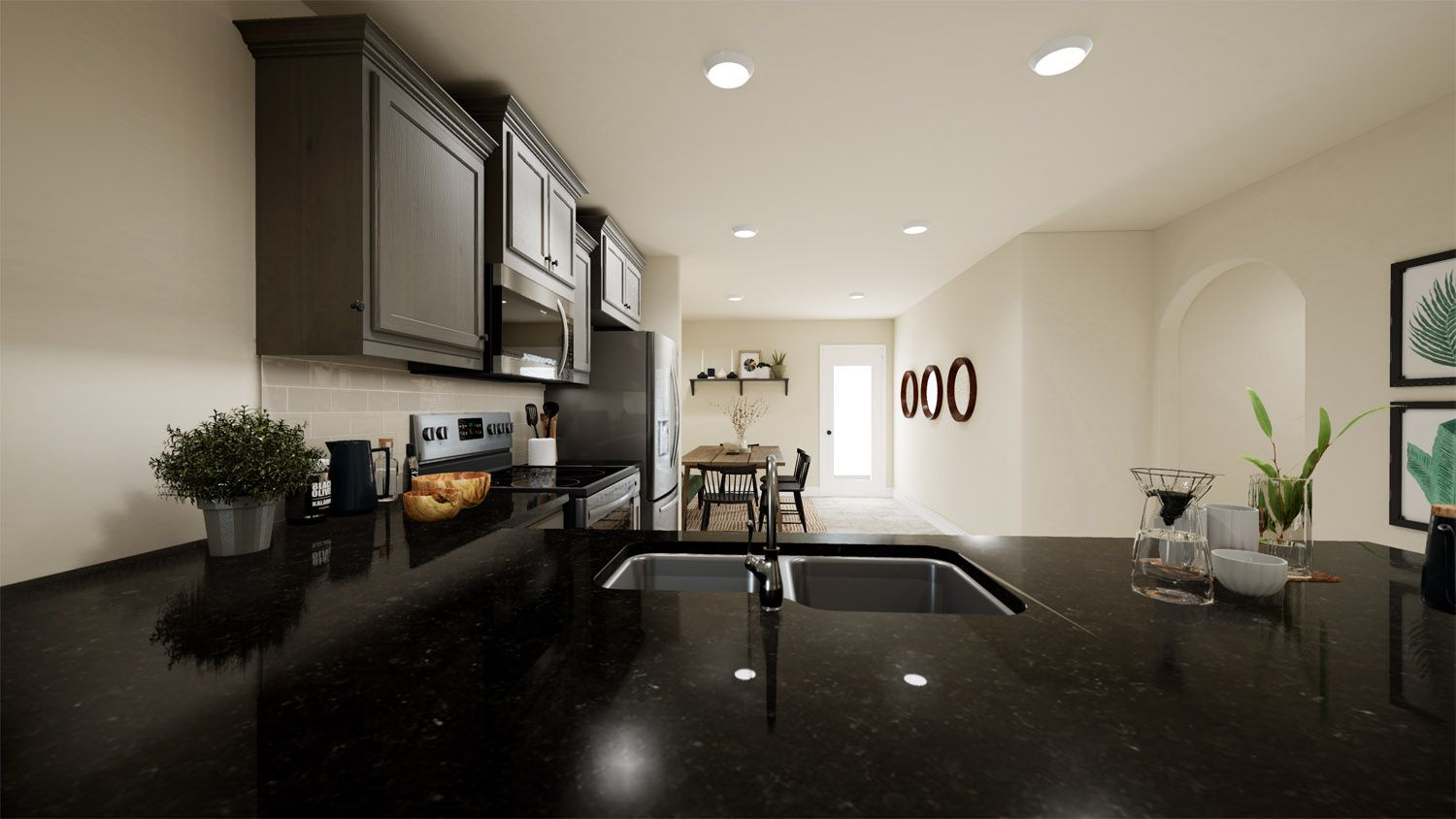 Kitchen featured in the 1400-4 Series By Schuber Mitchell Homes in Joplin, MO