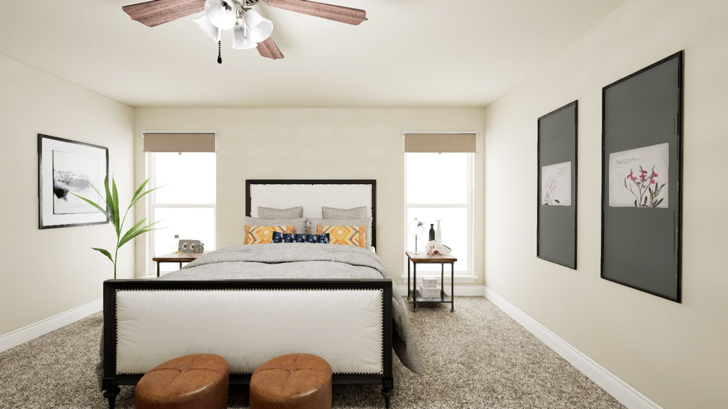 Bedroom featured in the 1550KB Series By Schuber Mitchell Homes in Joplin, MO