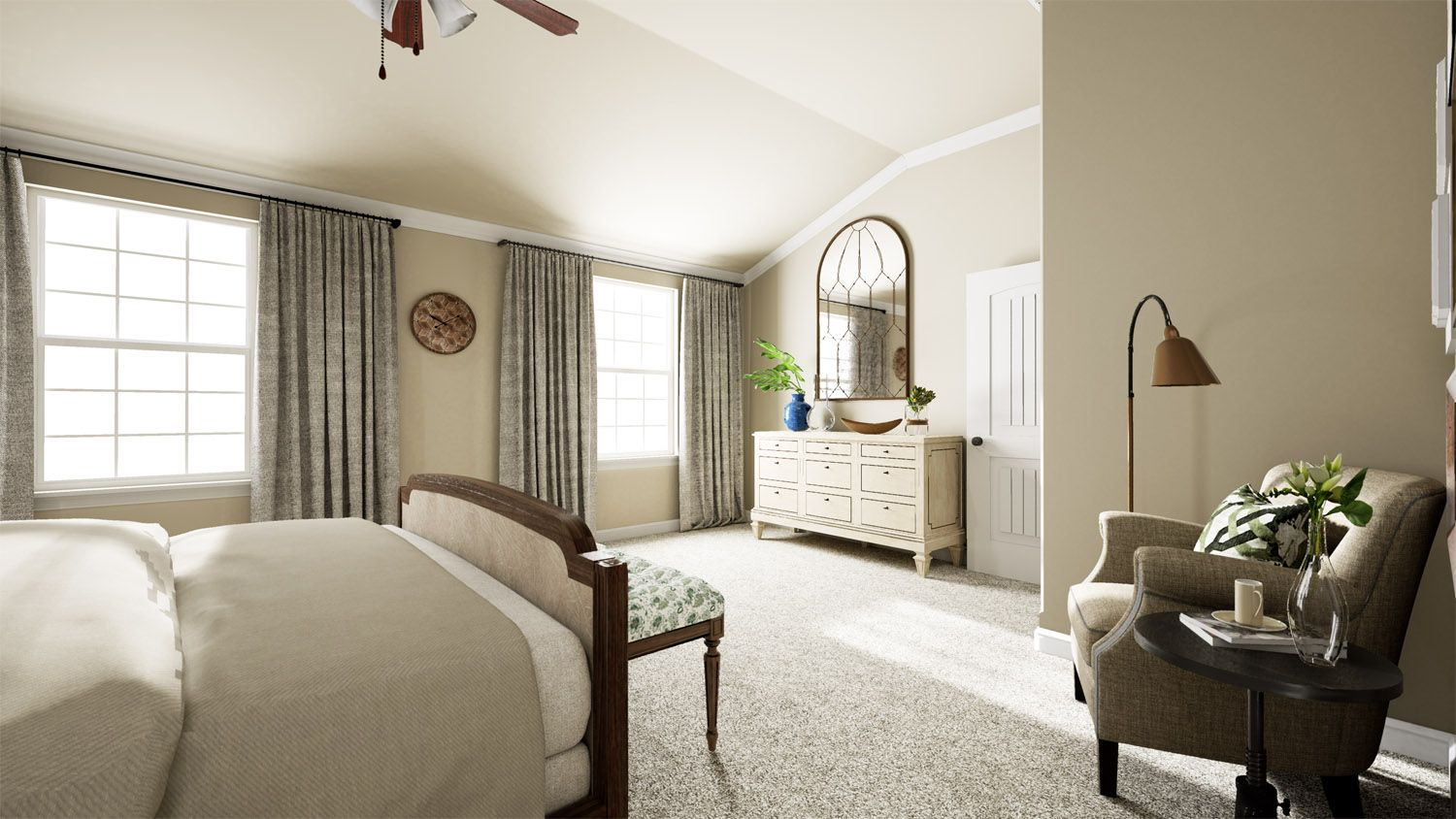 Bedroom featured in the 3000 Series By Schuber Mitchell Homes in Fayetteville, AR