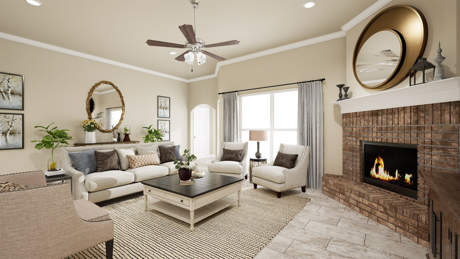 Living Area featured in the 2500 Series By Schuber Mitchell Homes in Joplin, MO