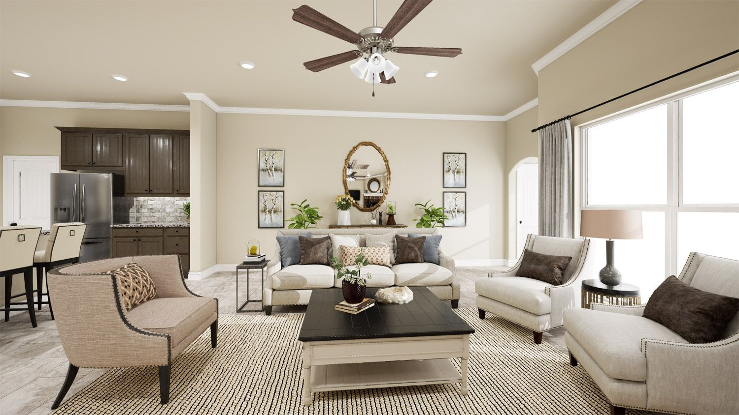 Living Area featured in the 2500 Series By Schuber Mitchell Homes in Fayetteville, AR
