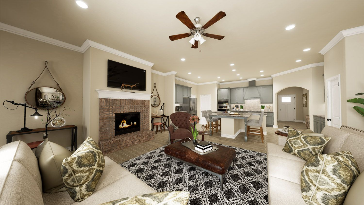 Living Area featured in the 2600T Series By Schuber Mitchell Homes in Fayetteville, AR