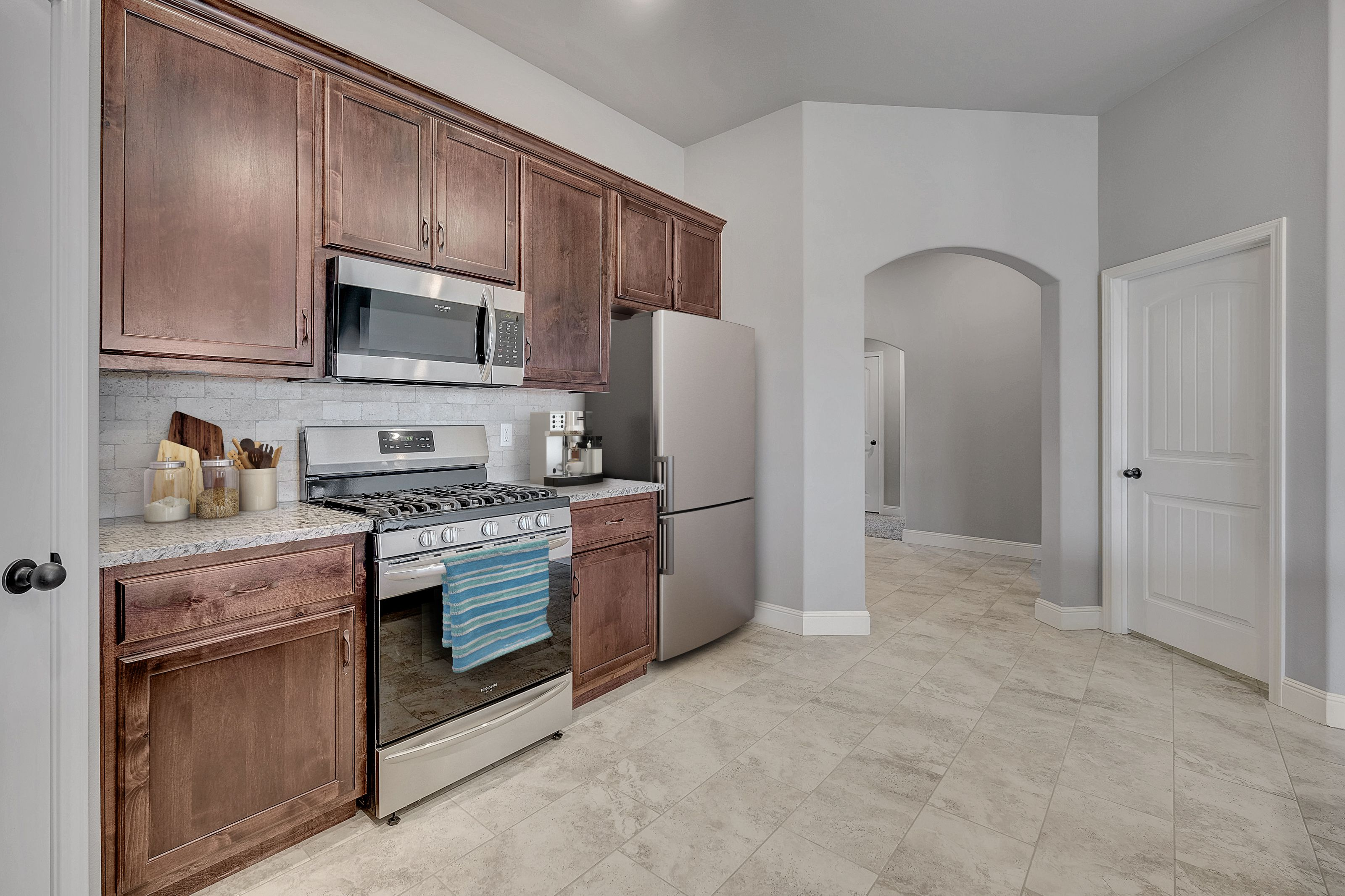 Kitchen featured in the 1860KP Series By Schuber Mitchell Homes in Joplin, MO