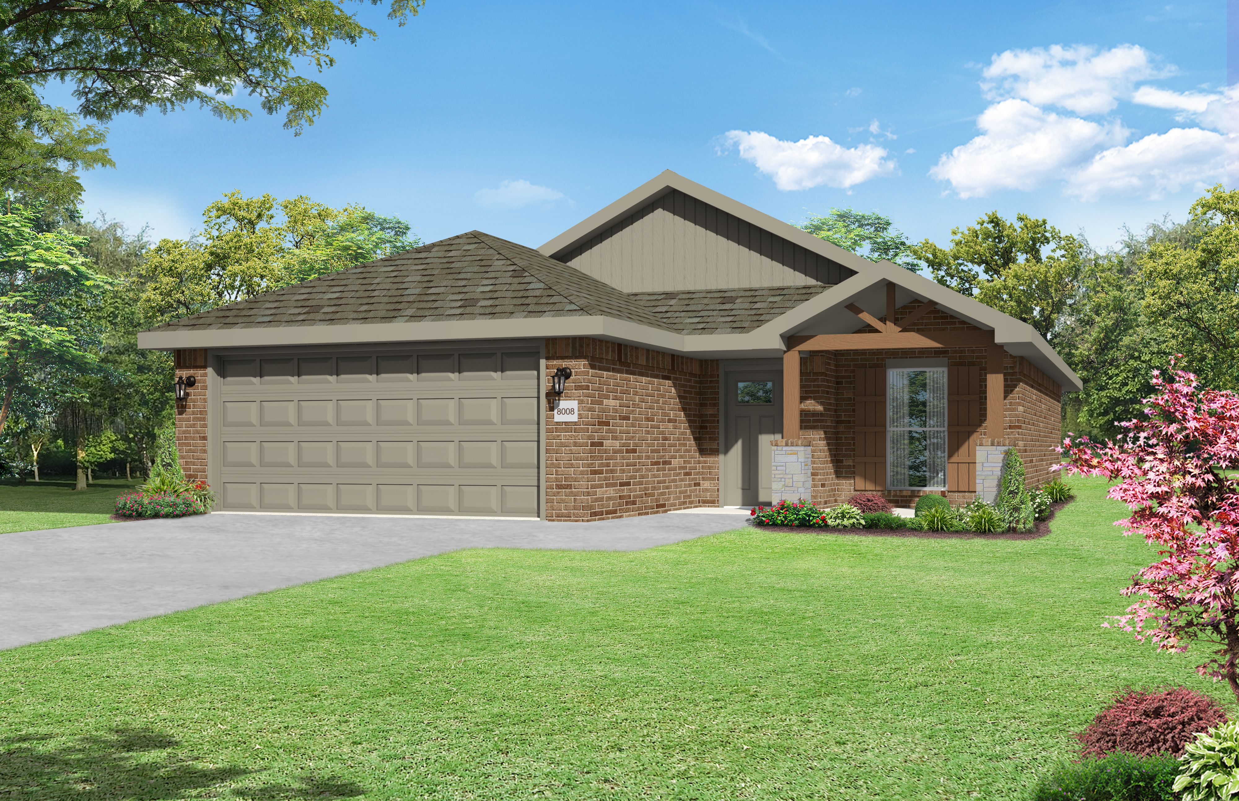 Exterior featured in the 1450KB Series By Schuber Mitchell Homes in Joplin, MO