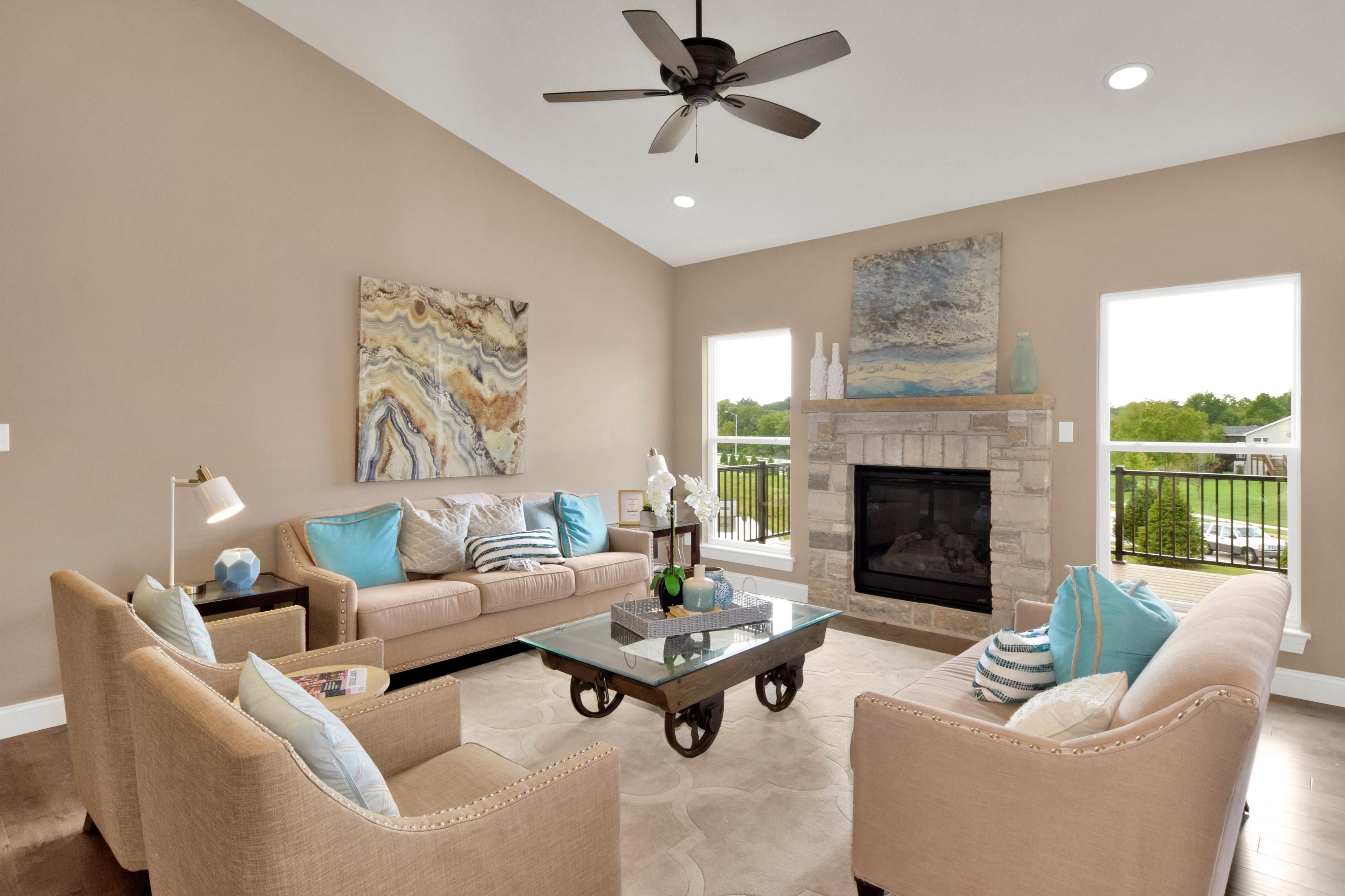 Living Area featured in The Columbia By The Kemp Homes Company  in St. Louis, MO