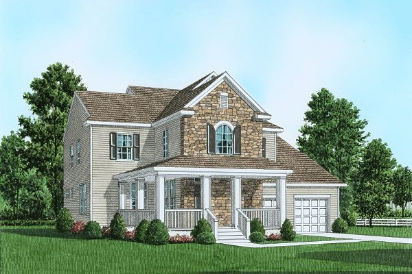 Exterior featured in the Plan 1 Traditional Series By Segal & Morel in Allentown-Bethlehem, PA