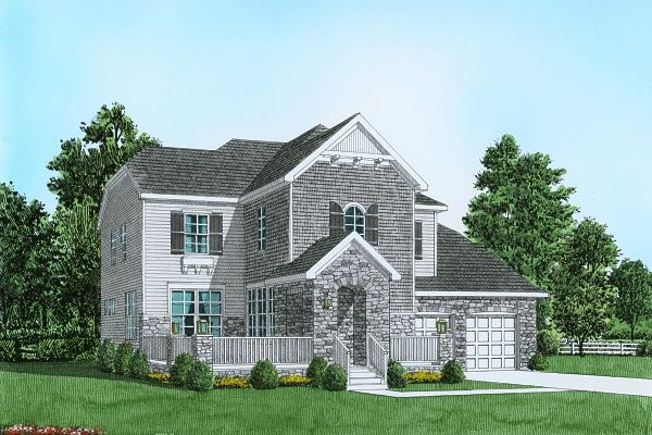 Exterior featured in the Plan 1 Traditional Series By Segal & Morel in Poconos, PA