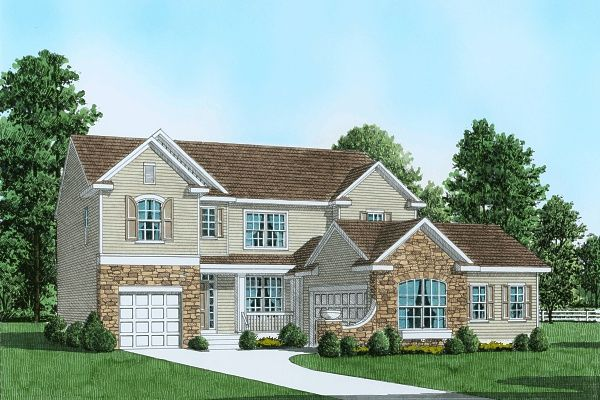 Exterior featured in the Plan 2 Traditional Series By Segal & Morel in Poconos, PA