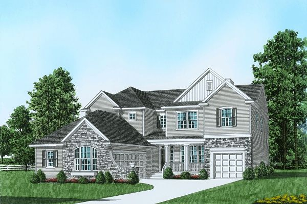 Exterior featured in the Plan 4 Traditional Series By Segal & Morel in Poconos, PA