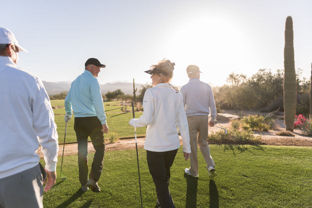 golfing group:Group of Homeowners Golfing