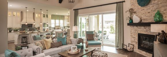 Living Area of New Home Plan 6020 at Meridiana 70':Plan 6020 Meridiana Model