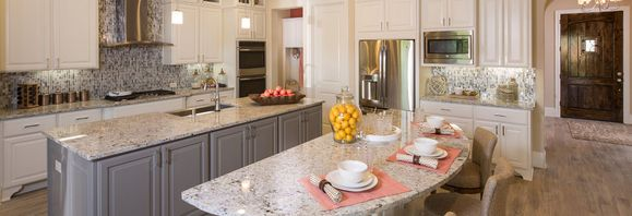 Elegant Kitchen part of new homes plan 5050:Plan 5050 Sienna Model