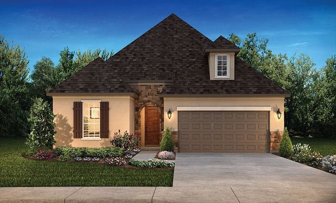 Exterior featured in the Plan 4117 By Shea Homes in Houston, TX