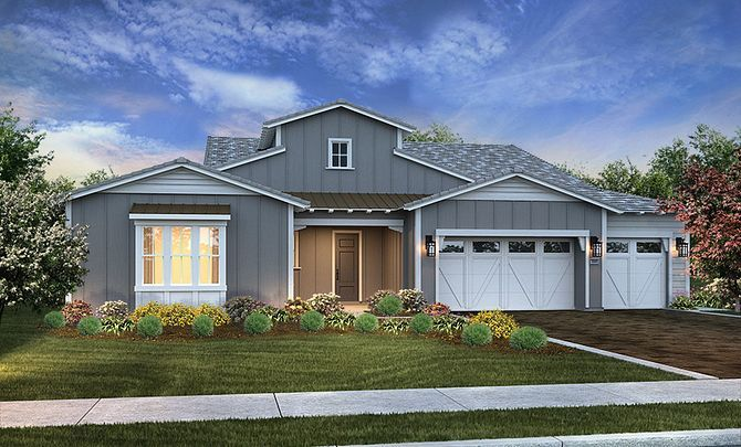 Marsanne Plan Exterior A:Exterior A Contemporary Ranch
