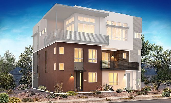 Trilogy in Summerlin Viewpoint Exterior Rendering:Viewpoint Exterior Rendering A