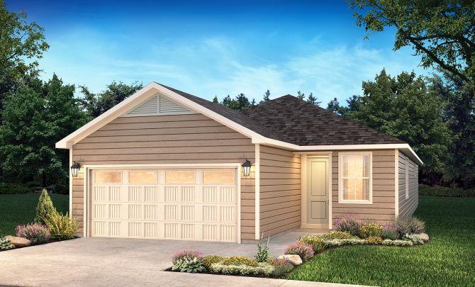 Glory Exterior A:Exterior A: Modern Cottage