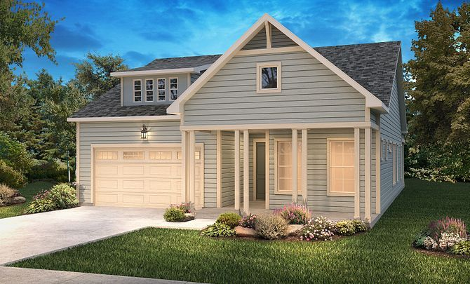 Trilogy Lake Norman Graham Elevation New Farmhouse:Exterior C: New Farmhouse